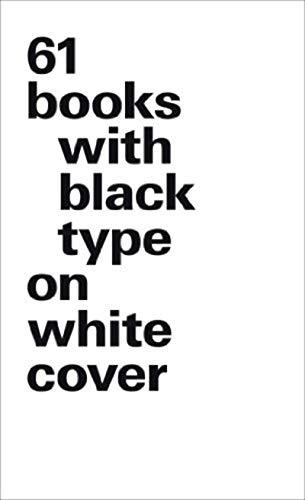 9783721209204: 61 Books with Black Type on White Cover: (largel format)