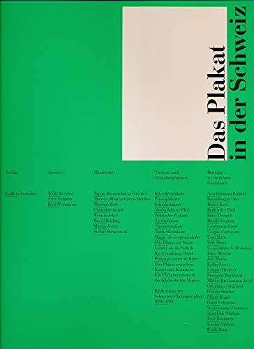 9783723104040: Das Plakat in der Schweiz (German Edition)