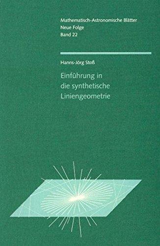9783723510377: Einführung in die synthetische Liniengeometrie