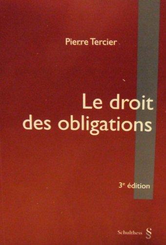 9783725548439: Le droit des obligations - 3�me �dition