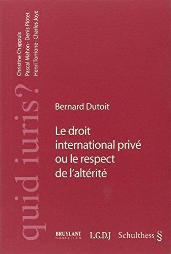 le droit international prive