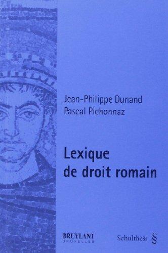 9783725551842: lexique de droit romain