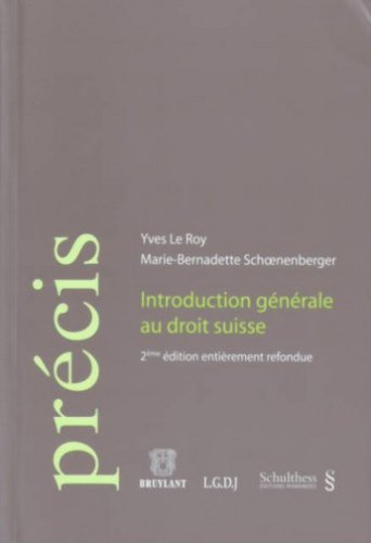 9783725557806: Introduction General au Droit Suisse,