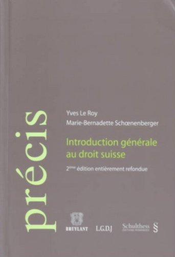 9783725557806: Introduction générale au droit suisse (Précis)