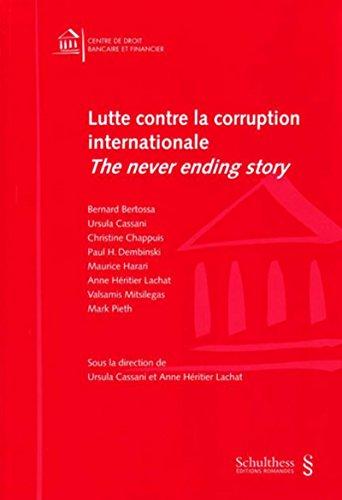 lutte contre la corruption internationale: Anne H�ritier Lachat, Ursula Cassani