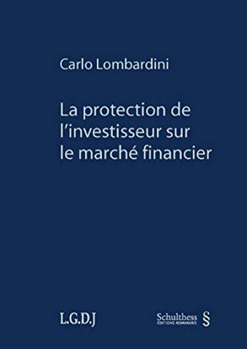9783725565849: La protection de l'investisseur sur le marché financier