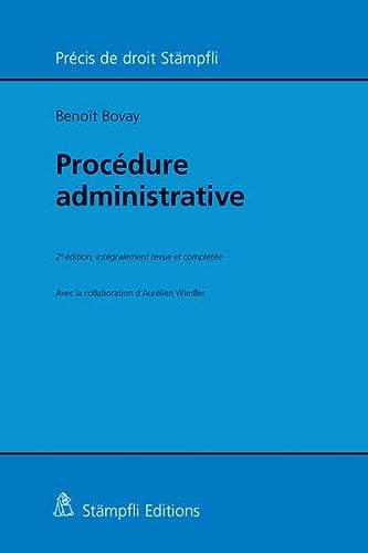 Procédure administrative: Beno�t Bovay