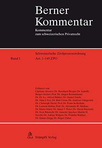 9783727233630: Schweizerische Zivilprozessordnung (Art. 1-352): Band I: Art. 1-149 ZPO Band ...