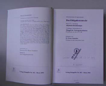 Berner Kommentar. Kommentar zum schweizerischen Privatrecht / Obligationenrecht: Die einzelnen ...
