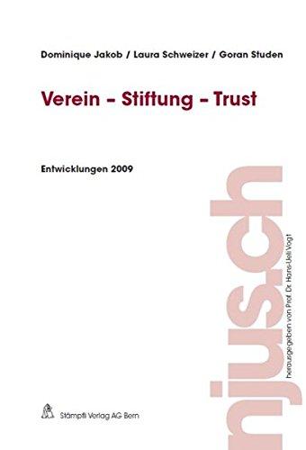 9783727280535: Verein-Stiftung-Trust - Entwicklungen 2009