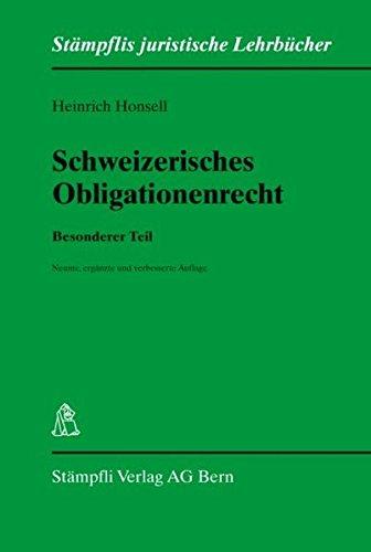 9783727286520: Schweizerisches Obligationenrecht. Besonderer Teil