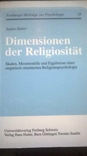 9783727810862: Dimensionen der religiositat skalen messmodelle und ergebnisse (Eu Fribourg Etr)