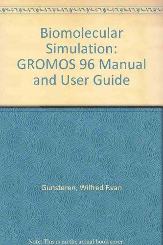 9783728124227: Biomolecular Simulation: GROMOS 96 Manual and User Guide
