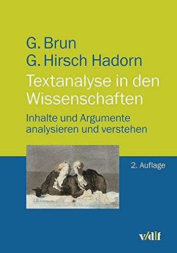 9783728136459: Textanalyse in den Wissenschaften: Inhalte und Argumente analysieren und verstehen