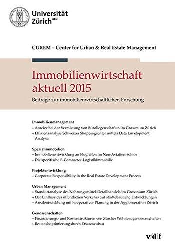 9783728136657: Immobilienwirtschaft aktuell 2015: Beiträge zur immobilienwirtschaftlichen Forschung