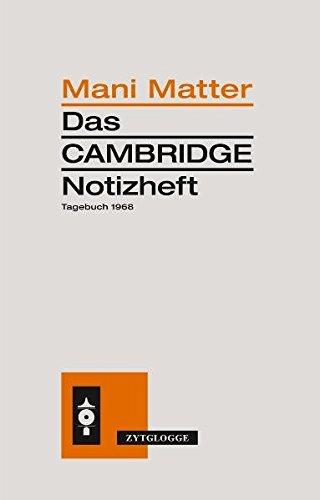9783729608306: Das Cambridge Notizheft: Tagebuch 1968