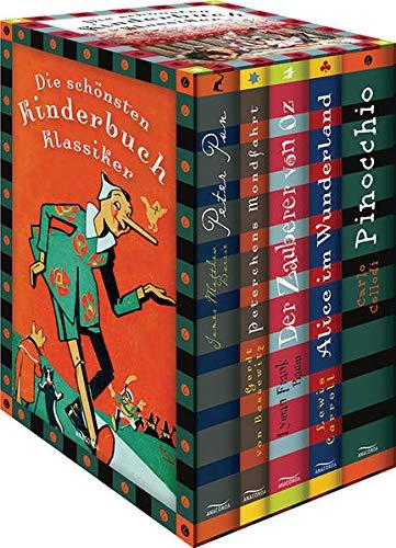 9783730602782: Die schönsten Kinderbuchklassiker: Peter Pan - Peterchens Mondfahrt - Alice im Wunderland - Der Zauberer von OZ - Alice im Wunderland - Pinocchio (6 Bände in Kassette)