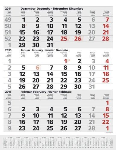 9783731801757: 3-Monats-Planer Comfort 2015: Vor- und Nachmonat