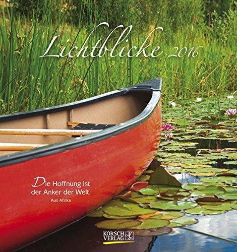9783731808305: Lichtblicke 2016: aufstellbarer Postkartenkalender