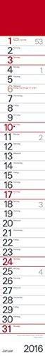 9783731808558: Streifenplaner Rot 2016: Mit Datumsschieber