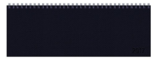 9783731820925: Tischquerkalender Professional Premium schwarz 2017