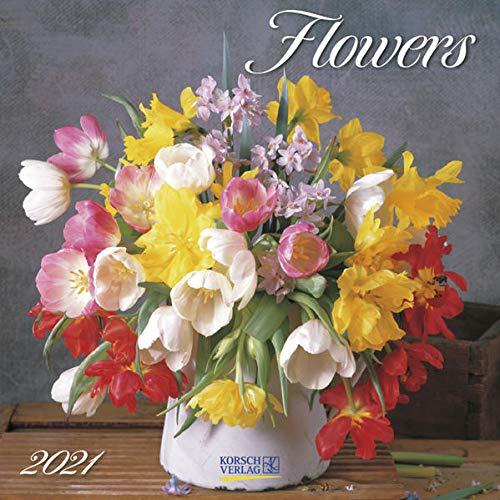9783731847120: Flowers 2021: Broschürenkalender mit Ferienterminen. Blumen-Vielfalt