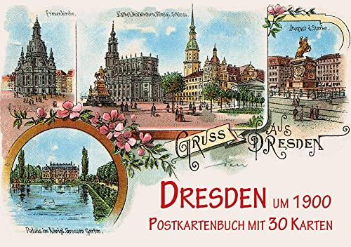 9783731901068: Dresden um 1900: Postkartenbuch mit 30 Karten