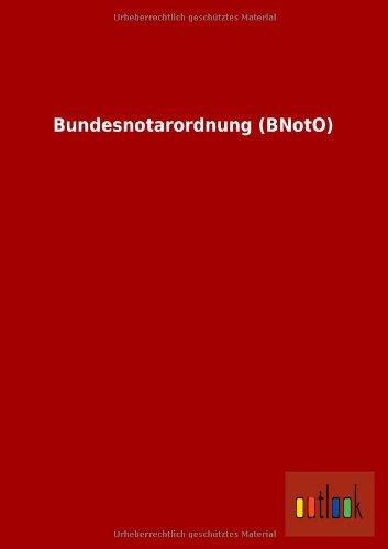 9783732613076: Bundesnotarordnung (Bnoto)