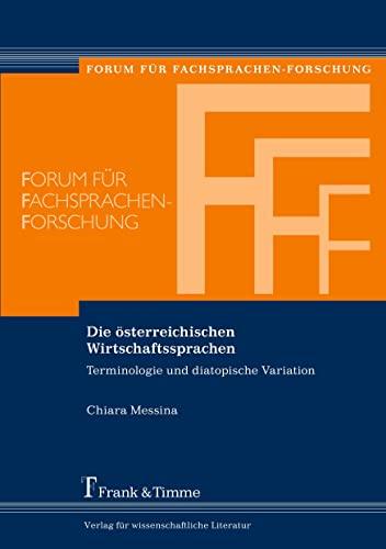 Die österreichischen Wirtschaftssprachen: Chiara Messina