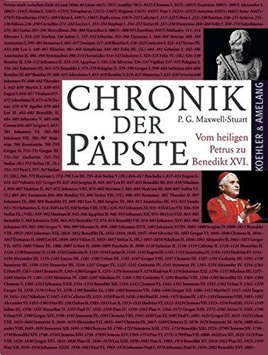 9783733803421: Chronik der Päpste: Vom heiligen Petrus zu Benedikt XVI.