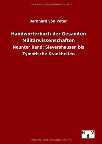 9783734004773: Handwörterbuch der Gesamten Militärwissenschaften (German Edition)