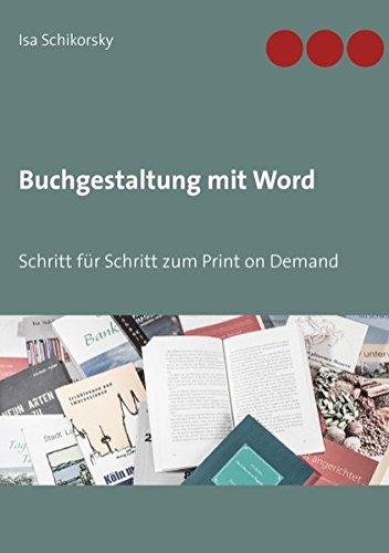 9783734791406: Buchgestaltung mit Word (German Edition)