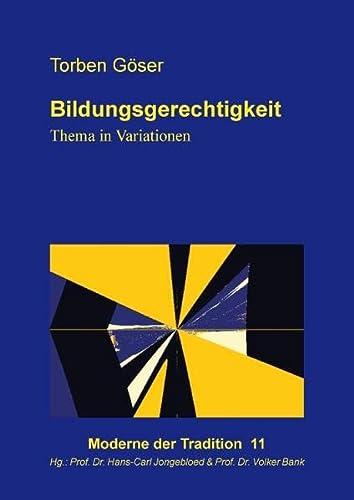 9783735775238: Bildungsgerechtigkeit: Thema in Variationen