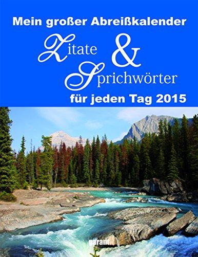 9783735900098: Zitate & Sprichwörter 2015 Abreißkalender