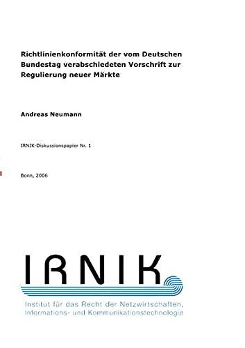 9783737550376: IRNIK-Diskussionspapier Nr. 1