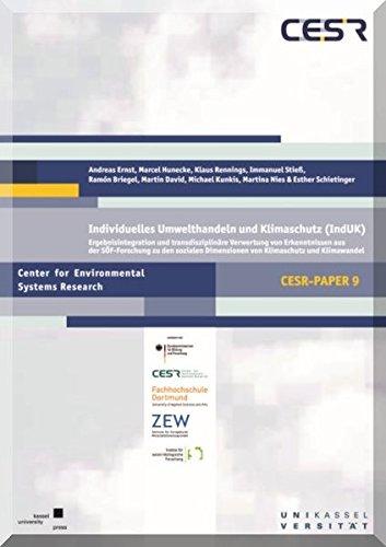 Individuelles Umwelthandeln und Klimaschutz (IndUK) - Sach: Andreas Ernst; Marcel