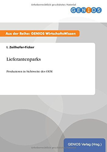 9783737938648: Lieferantenparks
