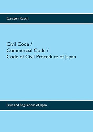 9783738629286: Civil Code / Commercial Code / Code of Civil Procedure of Japan