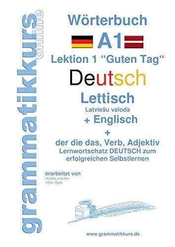 9783738650280: W�rterbuch Deutsch - Lettisch - Englisch Niveau A1