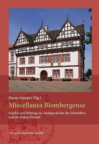 9783739510873: Miscellanea Blombergense