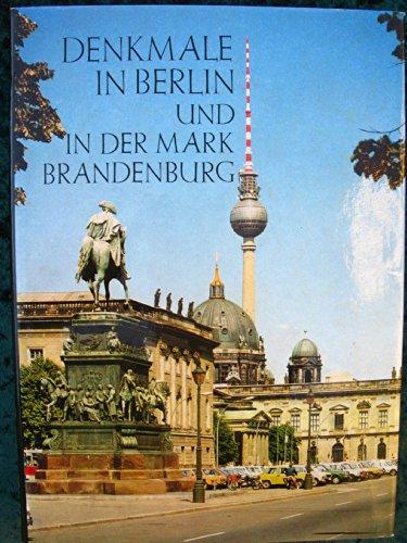 9783740000172: Denkmale in Berlin und in der Mark Brandenburg (Schriften zur Denkmalpflege in der Deutschen Demokratischen Republik)