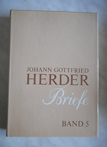 9783740000295: Briefe 1763 - 1803.: Johann Gottfried Herder. Briefe.: Fünfter Band: September 1783 – August 1788: Bd. 5 (J.g. Herder / Briefe)