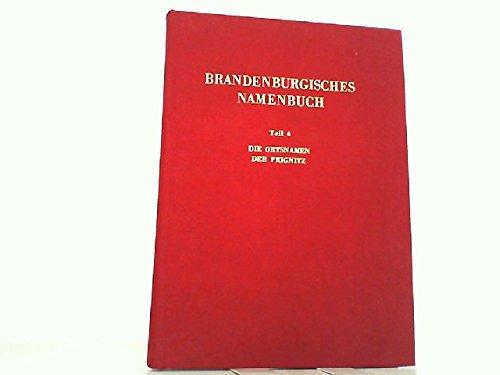 9783740001230: Die Ortsnamen der Prignitz (Brandenburgisches Namenbuch) (German Edition)