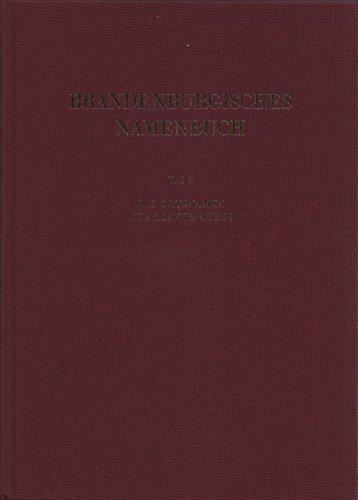 9783740009182: Brandenburgisches Namenbuch (Berliner Beiträge zur Namenforschung)