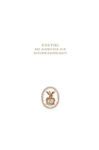 Goethe. Die Schriften zur Naturwissenschaft (Leopoldina): Dorothea Kuhn