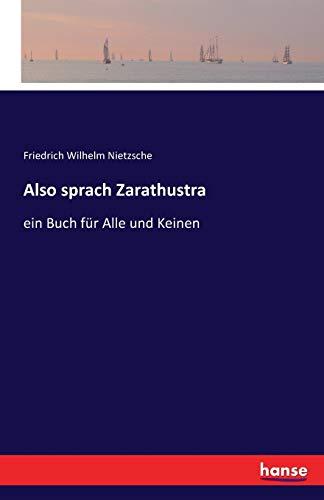 9783741113574: Also Sprach Zarathustra (German Edition)