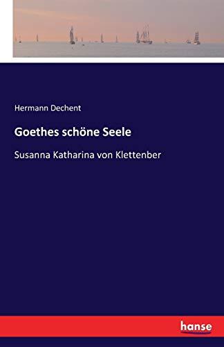 9783741124136: Goethes schöne Seele: Susanna Katharina von Klettenber