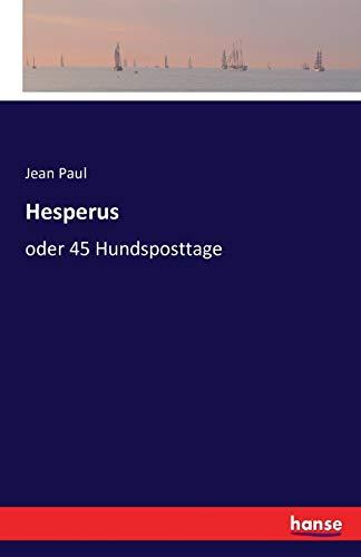 9783741144622: Hesperus: oder 45 Hundsposttage (German Edition)