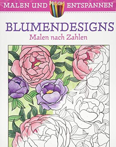 9783741521706: Malen und entspannen: Blumendesigns