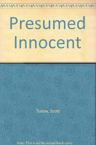 presumed innocent turow scott - Presumed Innocent Book